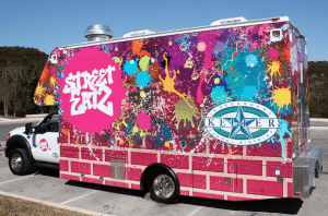 custom vinyl food truck wrap